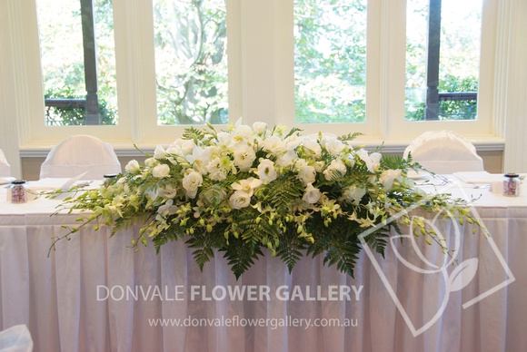 Donvale flower gallery bridal table arrangements bridal table bridal table flowers white mightylinksfo